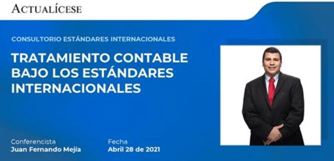 Consultorio Efectos Tributarios de las NIIF 28 de abril de 2021